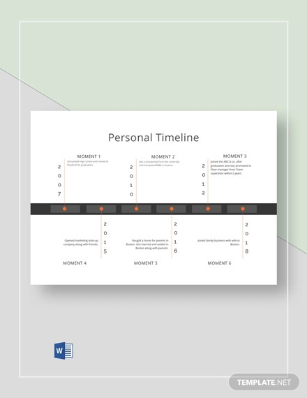simple personal timeline template