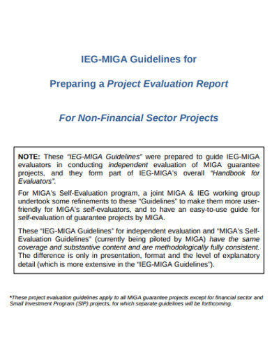 simple project evaluation report