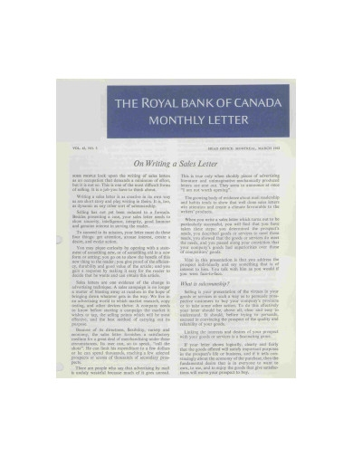 simple sales letter example