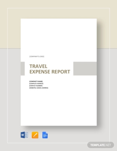 simple travel expense report