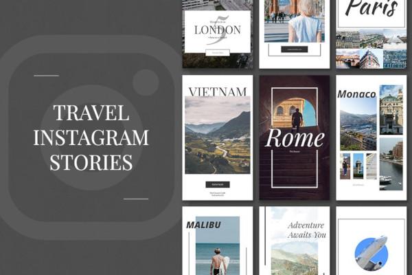 simple travel instagram stories