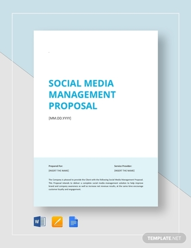 social media management proposal