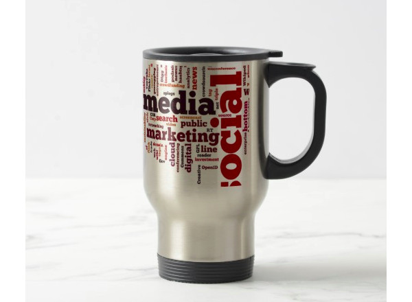 social media text travel mug