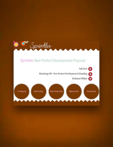 sprinkles cupcake product proposal