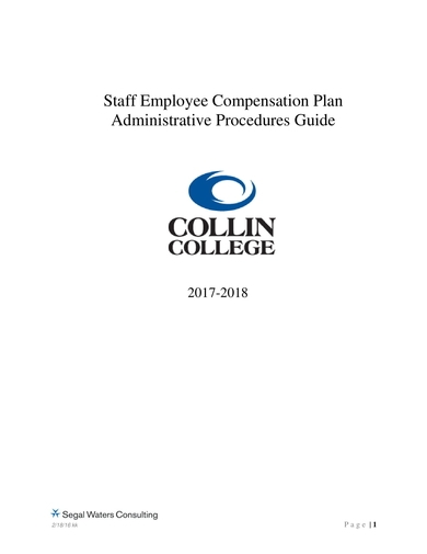 staff employee comp plan