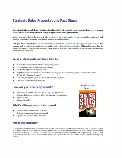 strategic sales presentation