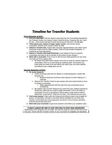 student transfer timeline