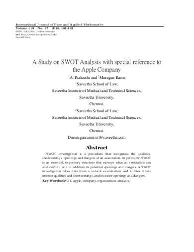 study company swot analysis