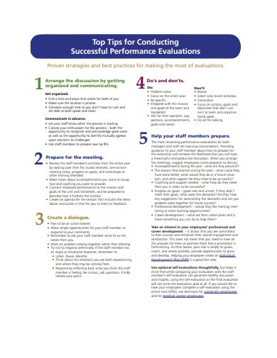 successful performance evaluation example