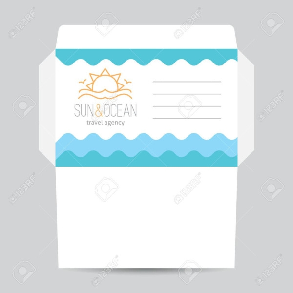 sun ocean travel agency envelope