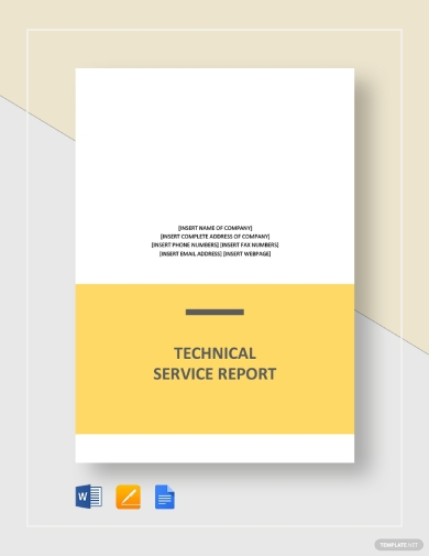 technical service report