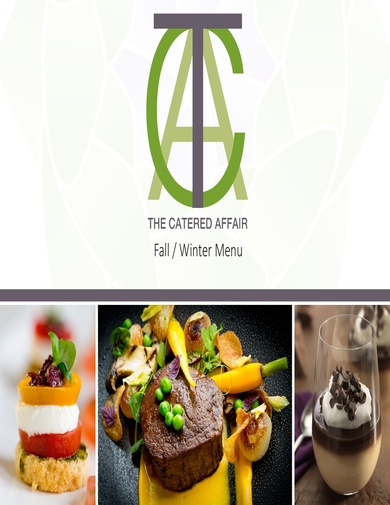 the catered affair fall winter catering menu