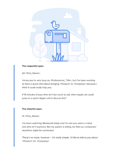 the cold emailing handbook sample