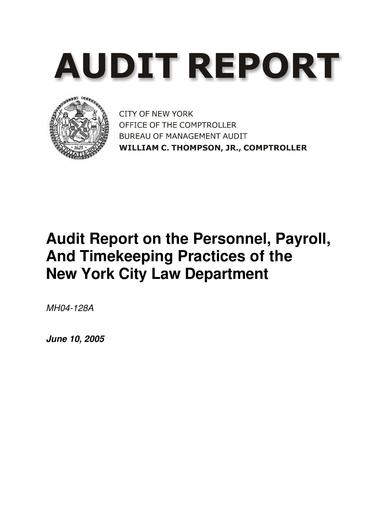 timekeeping audit report