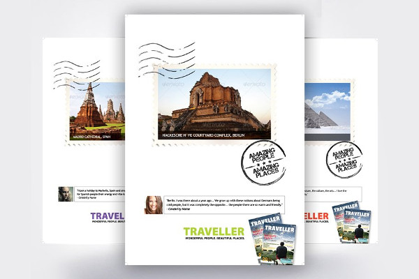 tour travel ad flyer