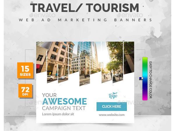 tourism travel ad banners