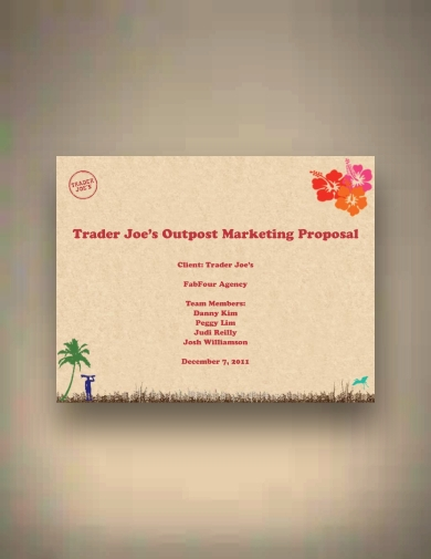 traderjoe s healthy food product proposal