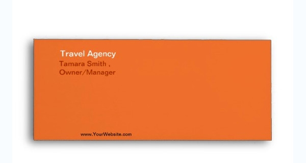travel agency envelope