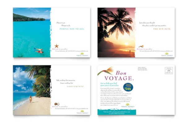 travel agency postcard example
