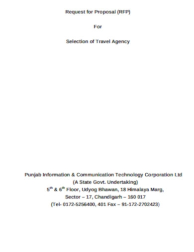 travel agency proposal example