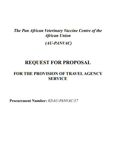 travel agency proposal sample template