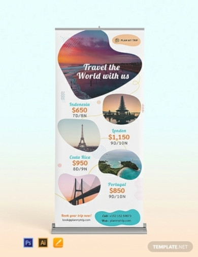 travel agency roll up banner