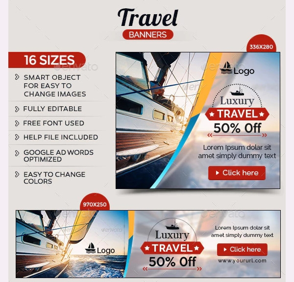 travel banners template