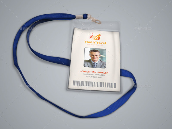 travel business office id card