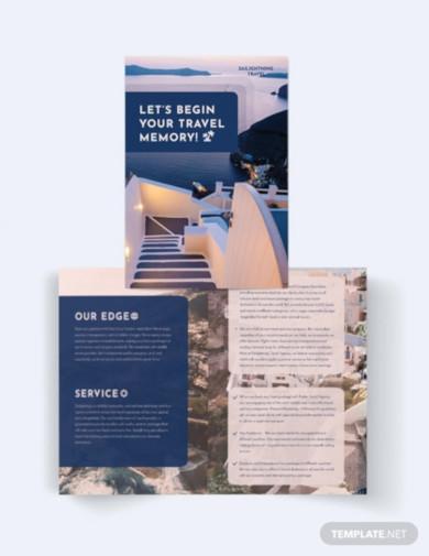 travel company bi fold brochure