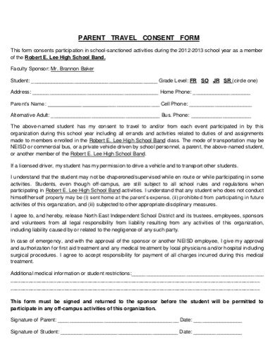 travel consent form in pdf