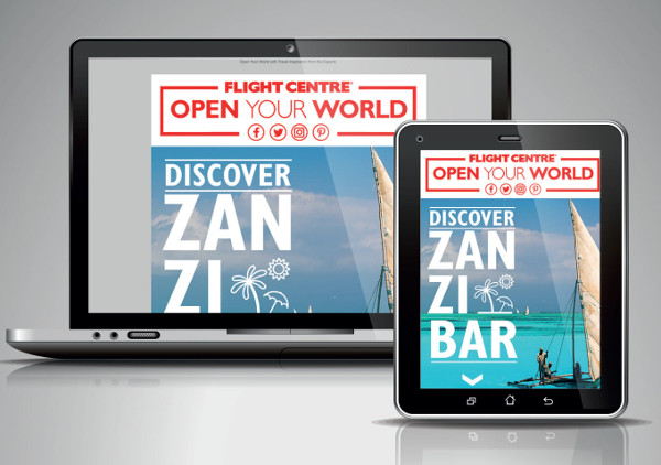 travel email newsletter design