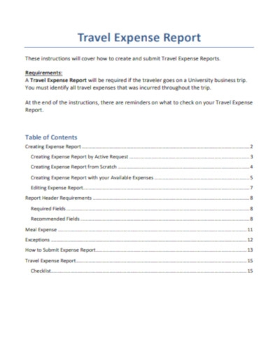travel expense report in pdf