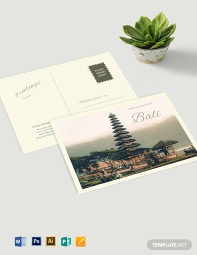travel postcard template