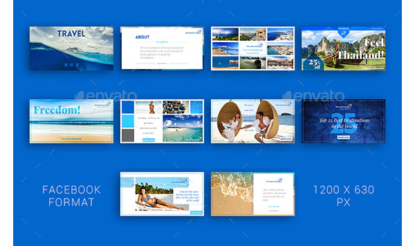 travel social media designs
