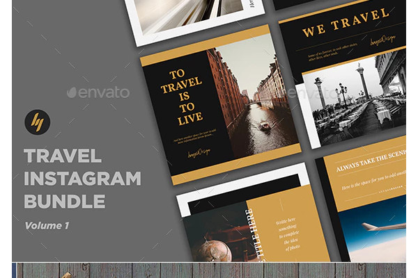 travel social media templates