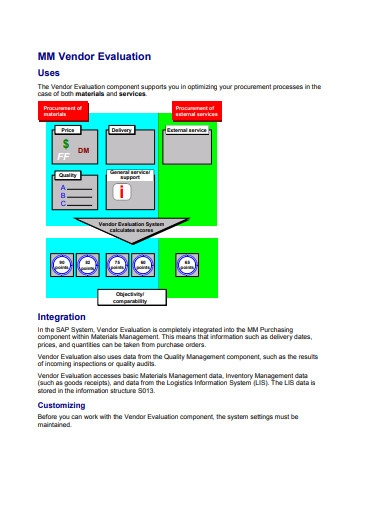 vendor evaluation examples in pdf