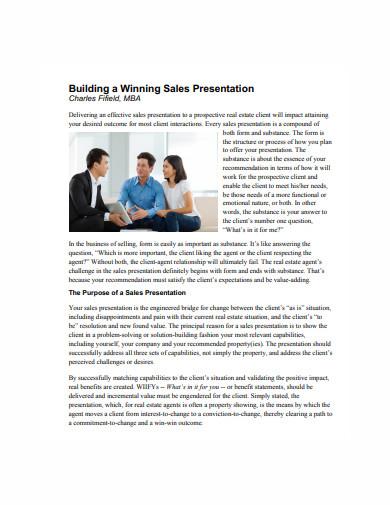 winning sales presentation