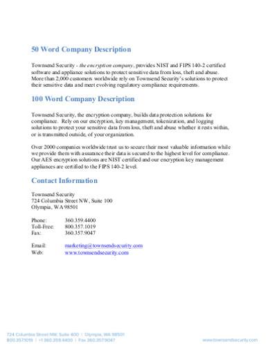 word company description