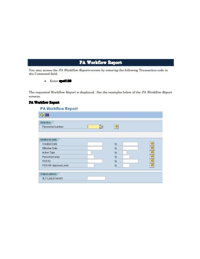 workflow report example