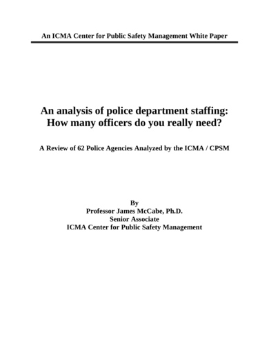 workload analysis for police department staffing