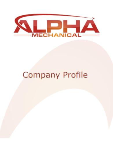 company profile format