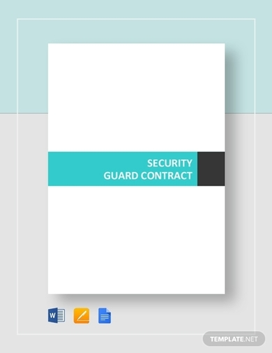 security guard contract