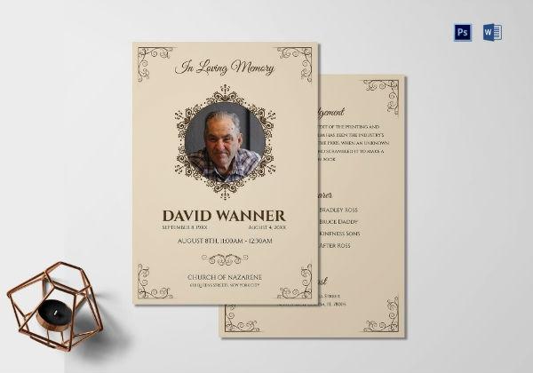 Free 12  Best Memorial Service Program Examples
