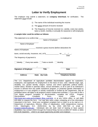 agricultural income verification letter sample