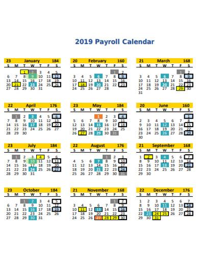basic payroll calendar example