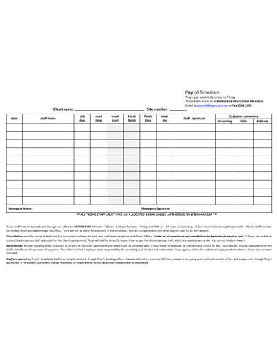 basic payroll timesheet example