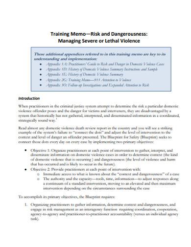 basic training memo example