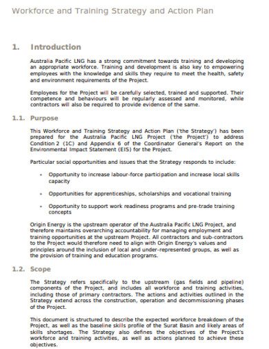 basic training strategy action plan example