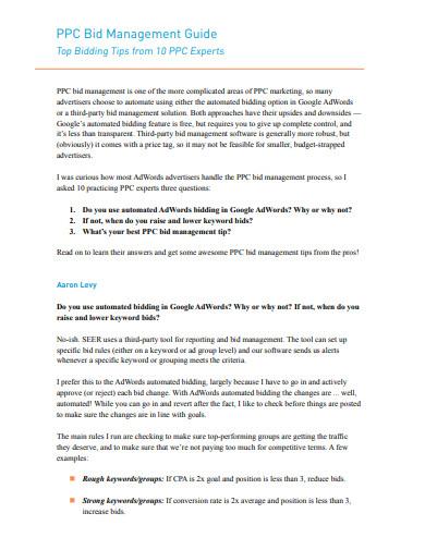 bid management guide