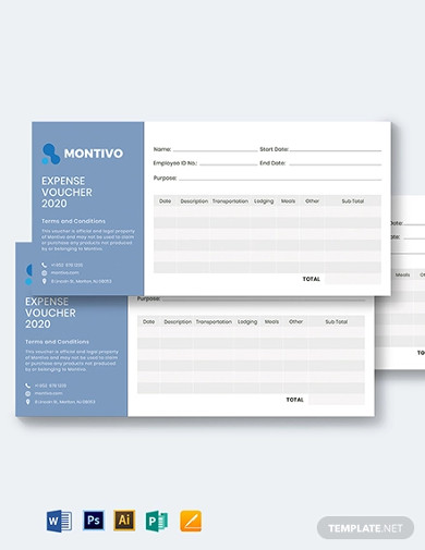business expense voucher template